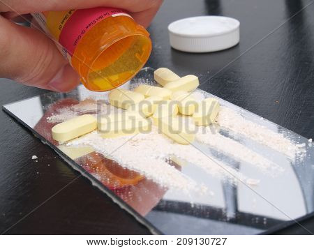 Images of a recreational drug use .