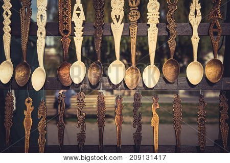 Ornamental Wooden Spoons Hanging