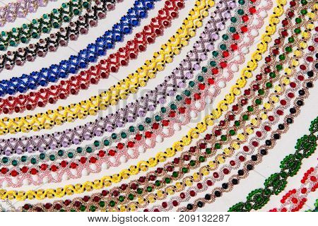 Background Of Traditional Beaded Necklaces