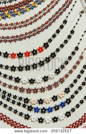 Collection Of Traditional Beaded Necklaces