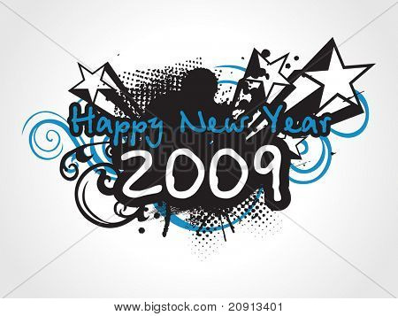 wallpaper, year 2009 background for party people, design