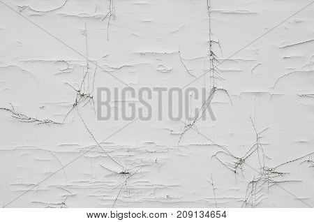 Old painted wall with cracked fracture for texture or background. Abstract image