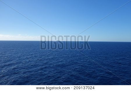 The Mediterranean Sea Photographed From A Boat