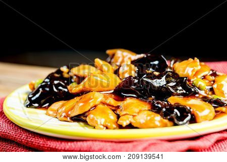 Chinese cuisine Black Fungus and carrot mix