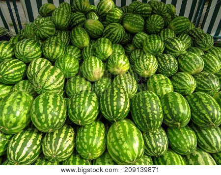 Ripe Watermelons Background