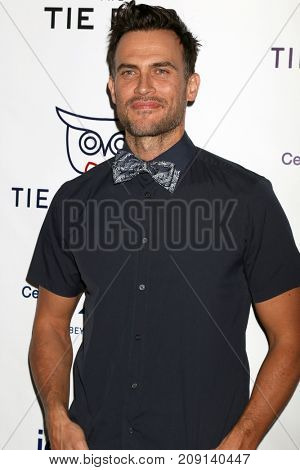 LOS ANGELES - OCT 12:  Cheyenne Jackson at the Tie The Knot Celebrates 5-Year Anniversary at the NeueHouse on October 12, 2017 in Los Angeles, CA