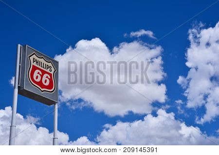 Phillips 66 Gas Station Sign And Logo.