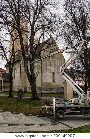 Poprad Town Preparing For Christmas