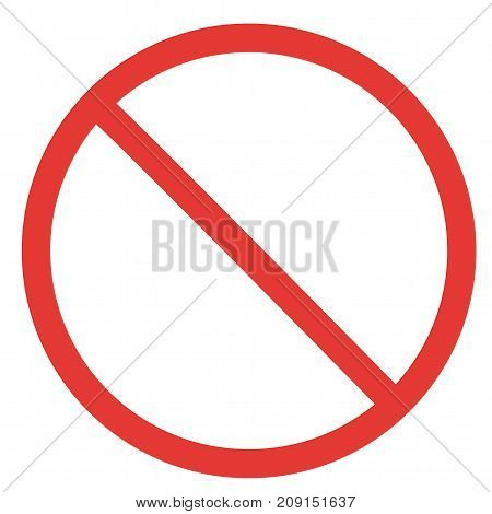 prohibitory sign template ban isolated red forbidden