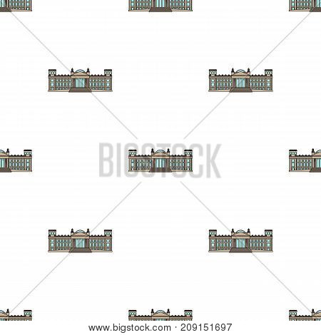 Building, single icon in cartoon style.Building, vector symbol stock illustration .