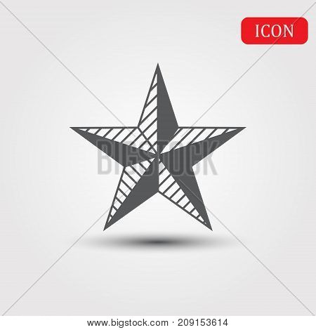 Star Isolated Flat Web Mobile Icon Vector Sign Symbol Button Element Silhouette