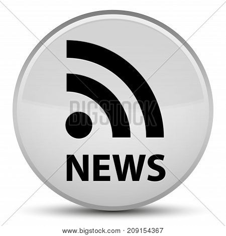 News (rss Icon) Special White Round Button
