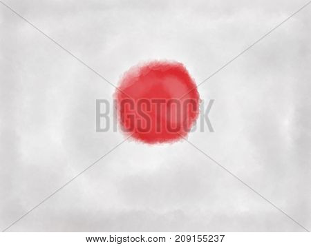 abstract painted background illustration - flag japan