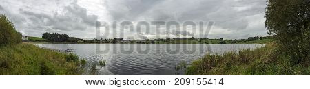 panoramic photo of a northern irish lake