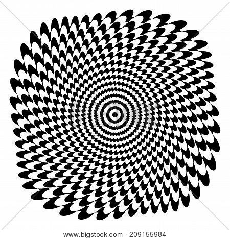 Abstract rotation design. Graphic pattern. Vector art.