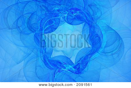 Abstract Blue Swirly  Background