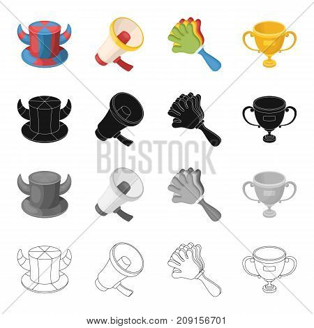 Attributes, symbols, sport, and other  icon in cartoon style. Olympics, achievements, winnings icons in set collection