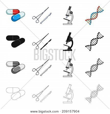 Prevention, medicine, hospital and other  icon in cartoon style.Capsules, tablets, medicines, icons in set collection