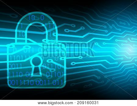 Cyber Security Data Protection Business Technology Privacy concept digital technology background abstract technology concept background vector illustration.