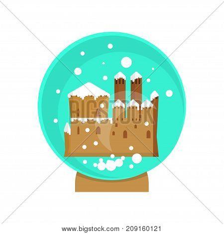 Christmas magic ball. Xmas Lights Decoration in flat design. Vector illustration eps 10