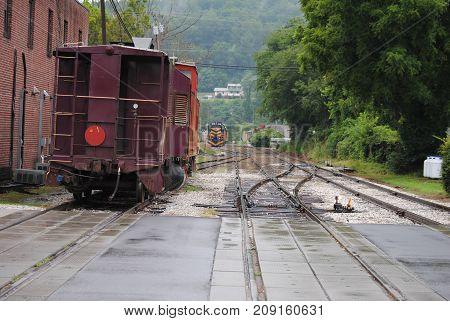 Train Siding in an old town in North Carolina