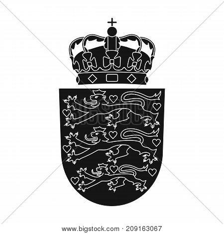 Emblem, single icon in black style.Emblem, vector symbol stock illustration .