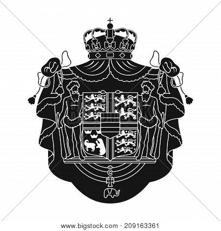 Arms, single icon in black style.Arms, vector symbol stock illustration .