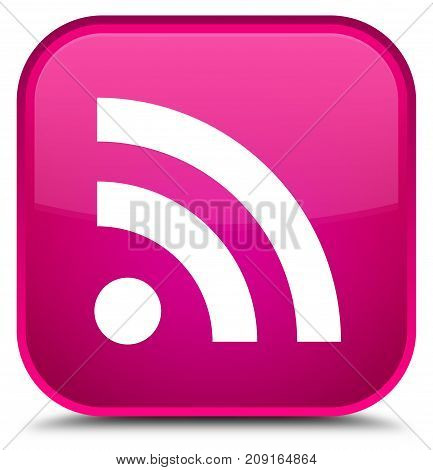 Rss Icon Special Pink Square Button