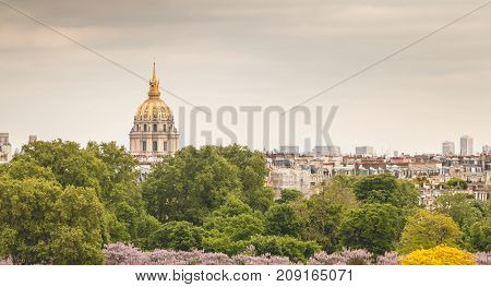 View Of The Roofs Of The Invalides Monument From The Place Du Trocadero In Paris