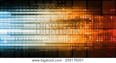 Internet of Things or IOT for Business Concept