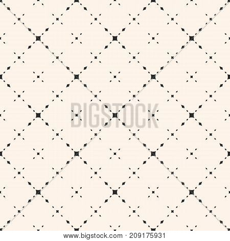 Universal minimalist vector seamless pattern. Subtle geometric texture with small diamond shapes, rhombuses delicate diagonal grid. Modern abstract background, repeat tiles. Simple elegant design.