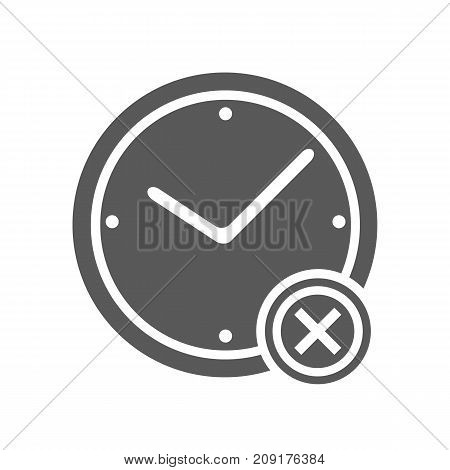 No time icon. Vector simple illustration of no time icon isolated on white background