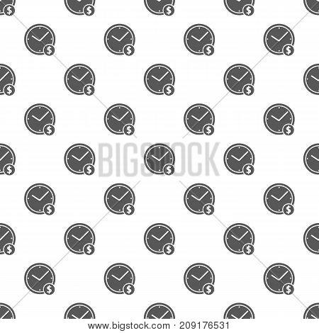 Clock money pattern seamless. Repeat illustration of clock money pattern vector geometric for any web design