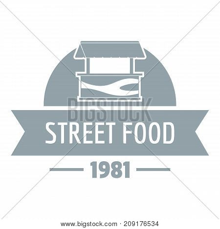 Sell street food logo. Simple illustration of sell street food vector logo for web