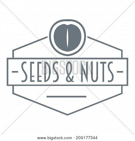 Nut and seed emblem logo. Vintage illustration of nut and seed emblem vector logo for web