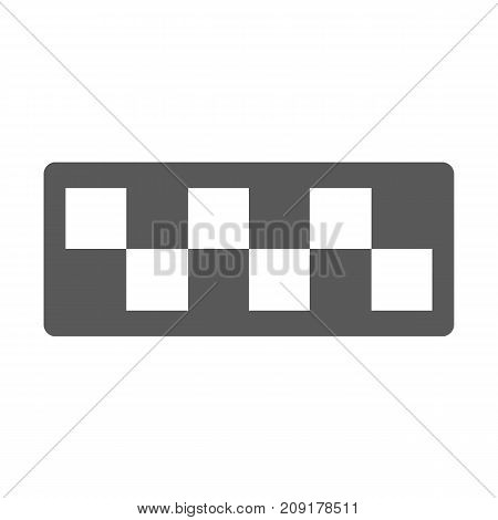 Taxi cab icon vector simple isolated on white background