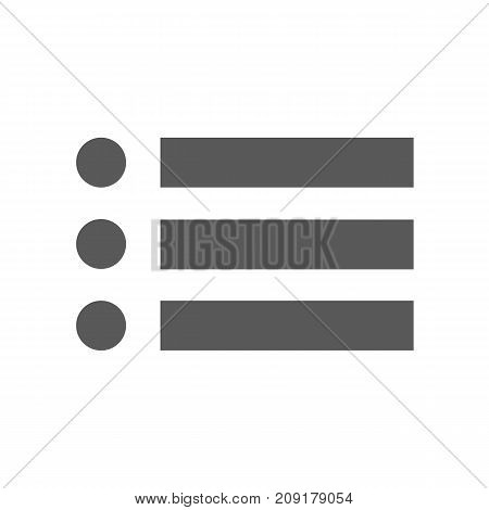 List icon vector simple isolated on white background