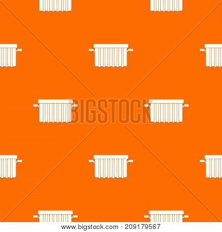 Garbage tank pattern repeat seamless in orange color for any design. Vector geometric illustration