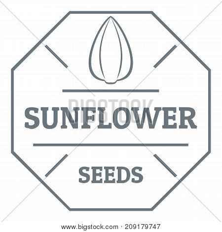 Sunflower seed logo. Vintage illustration of sunflower seed vector logo for web