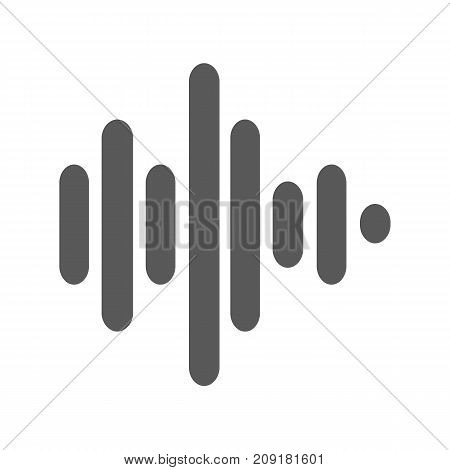 Sound wave icon vector simple isolated on white background