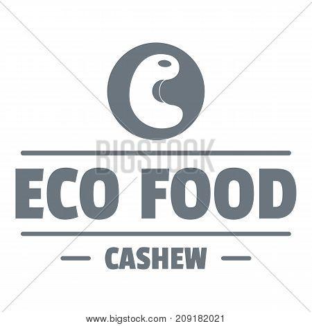 Cashew logo. Vintage illustration of cashew vector logo for web