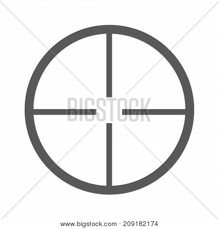 Aim icon vector simple isolated on white background