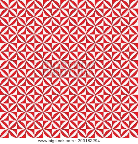 Seamless circle square pattern background texture in red