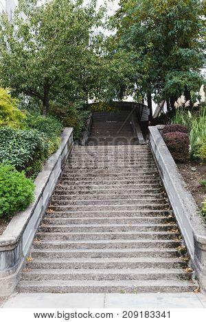 Concrete Steps In City