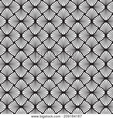 Seamless Art Deco vector vintage leaf pattern background