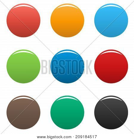 Colorful buttons icon set. Vector simple illustration of colorful buttons icon set isolated on white background