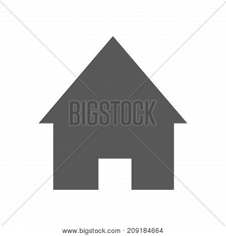 Home icon. Vector simple illustration of home icon isolated on white background