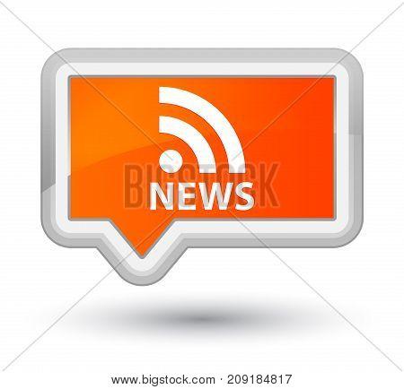 News (rss Icon) Prime Orange Banner Button