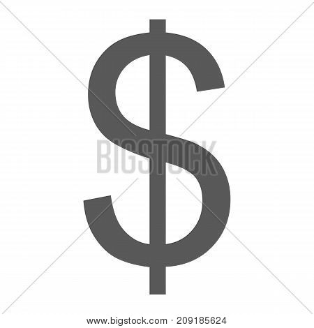 Dollar icon. Simple illustration of dollar vector icon black isolated on white background