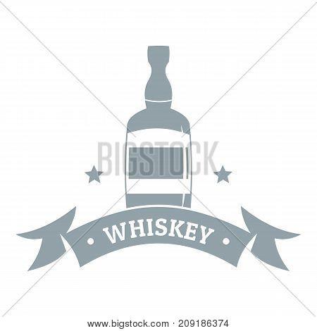 Whiskey logo. Simple illustration of whiskey vector logo for web